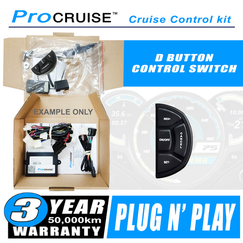 Cruise Control Kit Honda Jazz All 2008-ON (With D-Shaped control switch)